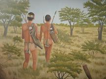 bush man painting khama memorial museum