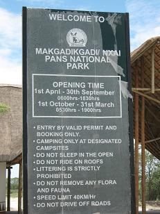 makgadikgadi and nxai national park