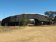 khama rhino sanctuary entrance